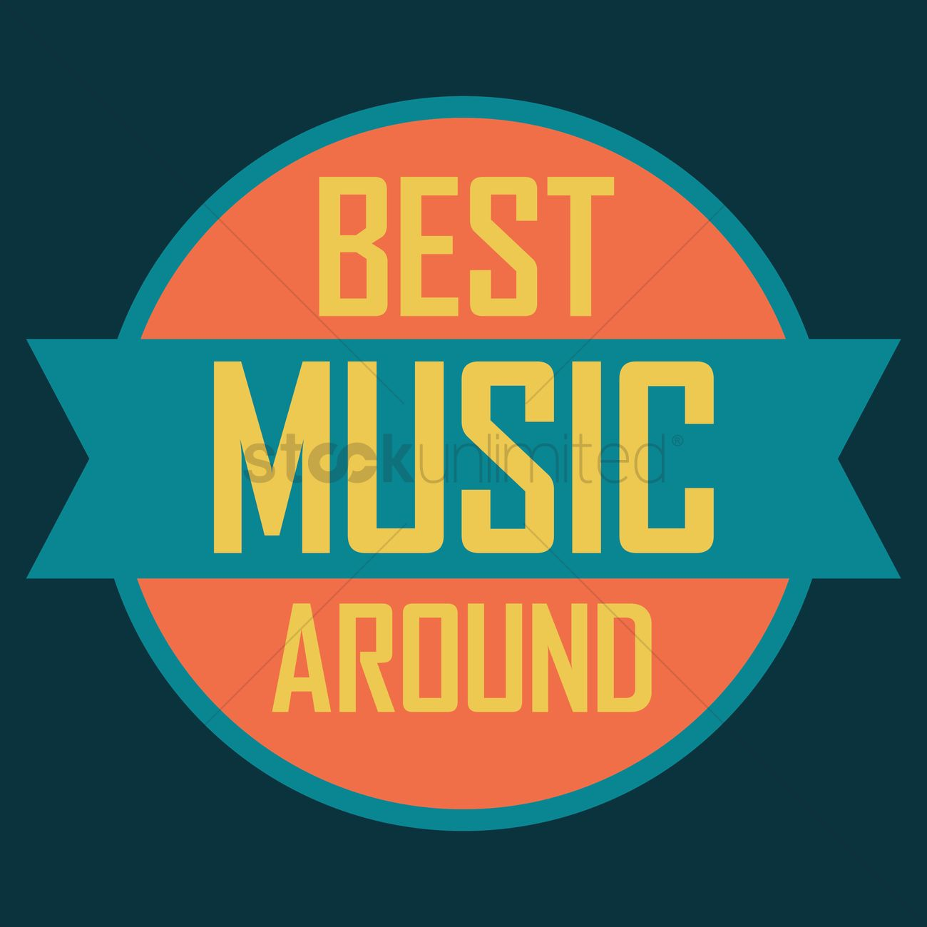 Best Music Label Design Vector Image