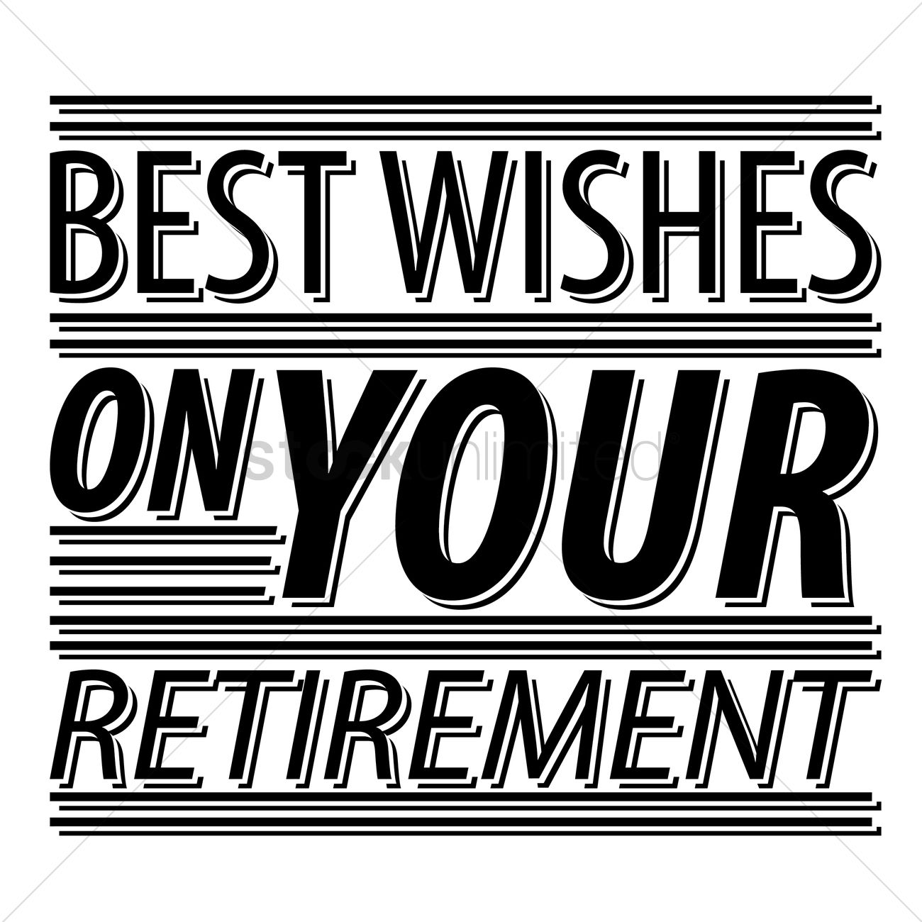 Best Wishes On Your Retirement Vector Image 1827364 Stockunlimited