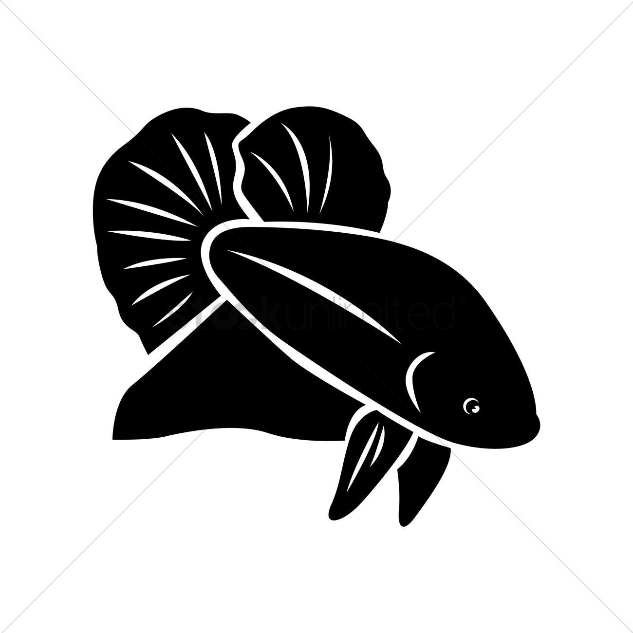 Betta fish Vector Image - 1537500   StockUnlimited (1300 x 1300 Pixel)
