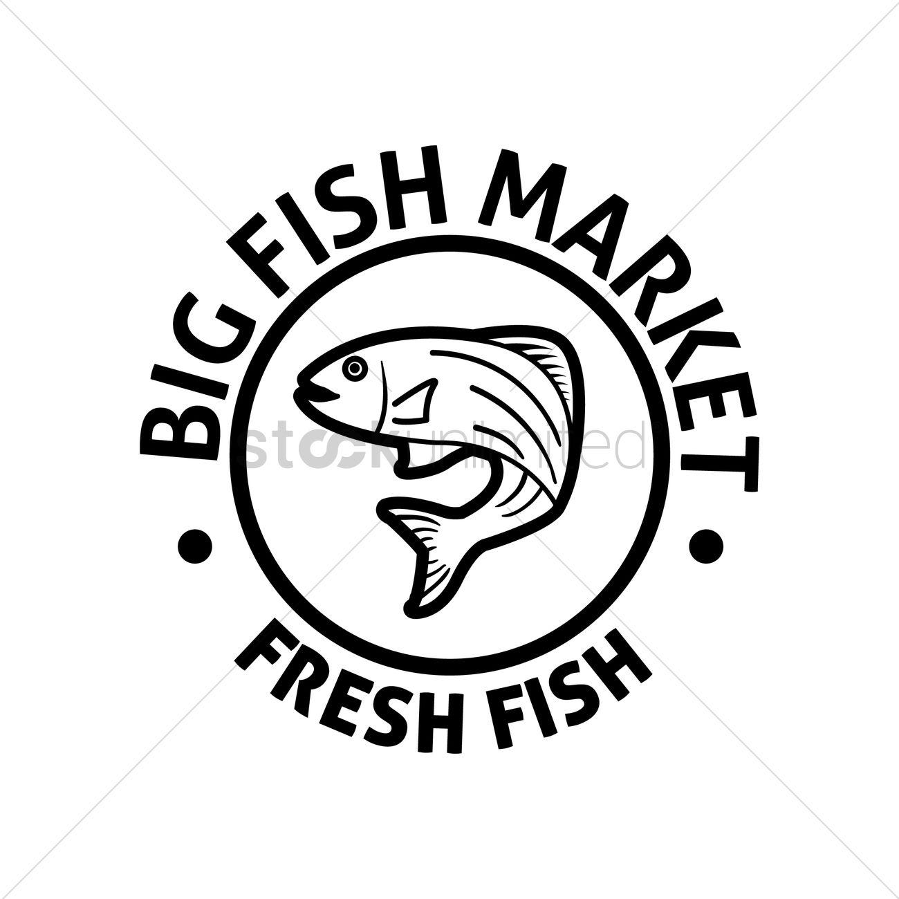 Big Fish Market Label Vector Image 1530148 Stockunlimited
