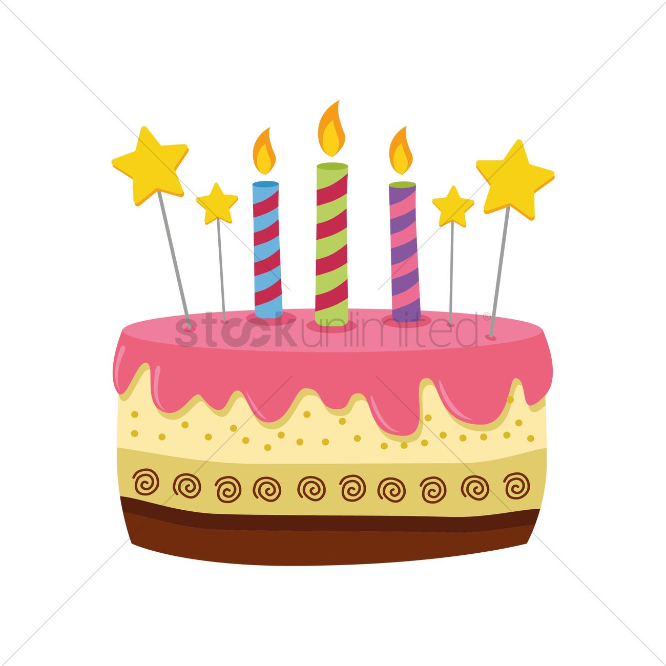Astonishing Birthday Cake Vector Image 1389008 Stockunlimited Funny Birthday Cards Online Alyptdamsfinfo