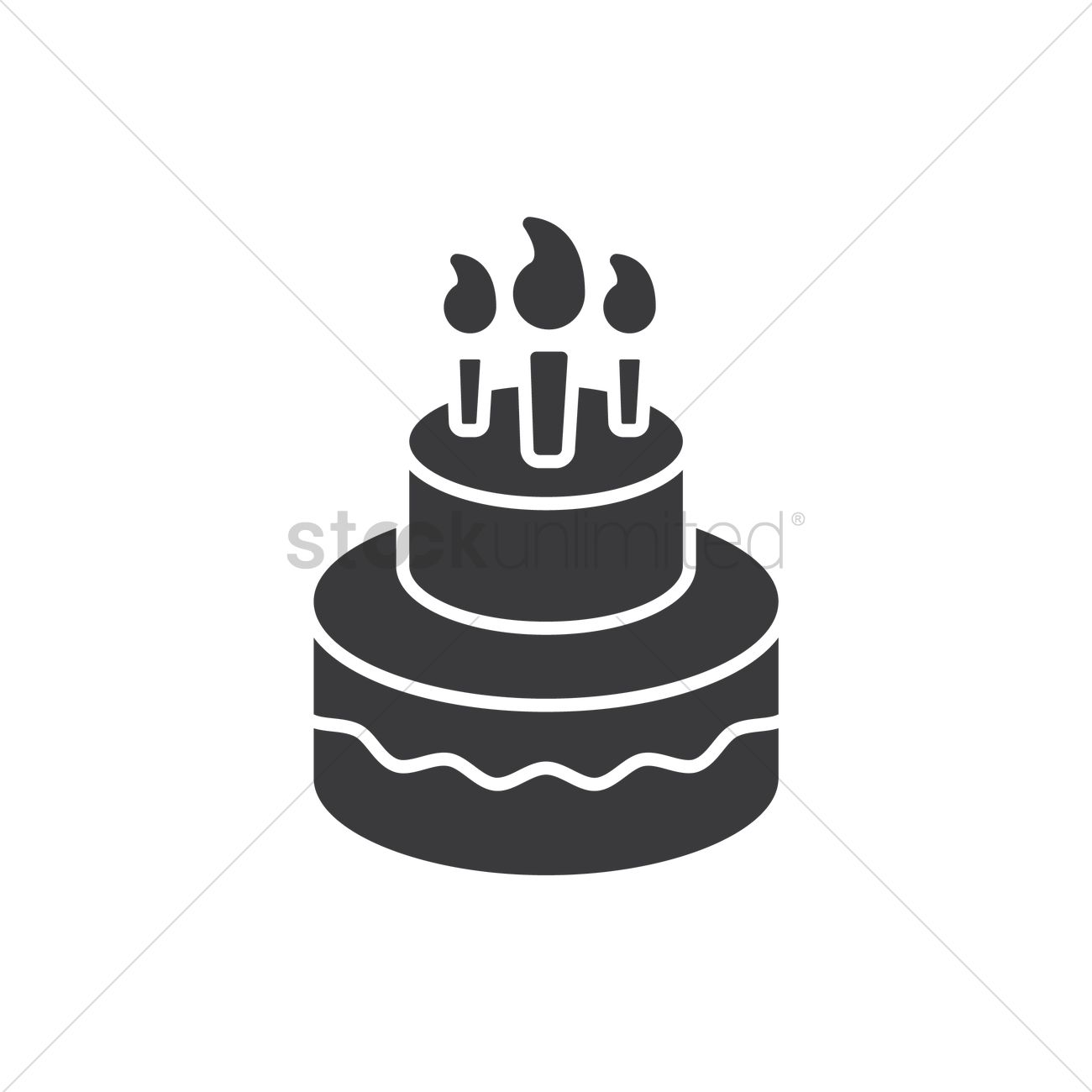Birthday cake Vector Image - 1973408 | StockUnlimited