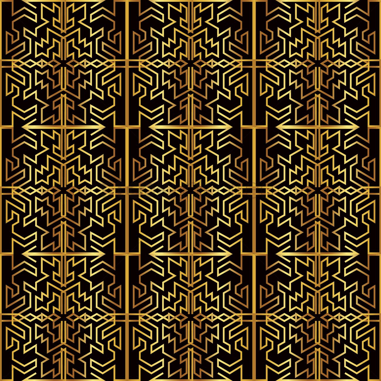 Black And Golden Wallpaper Vector Image 1821380 Stockunlimited