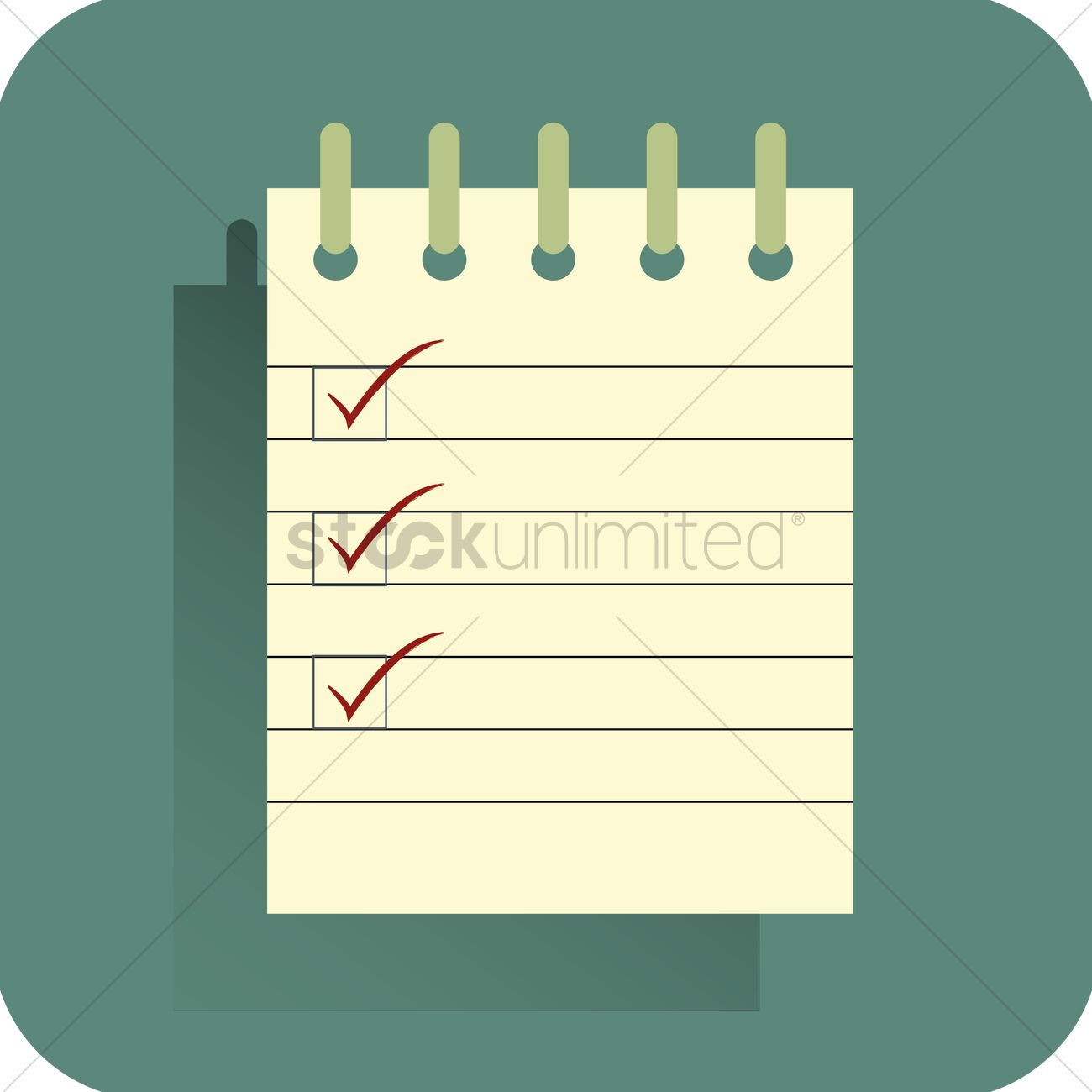 picture regarding Blank Checklist identified as Blank list template Vector Impression - 1489316 StockUnlimited