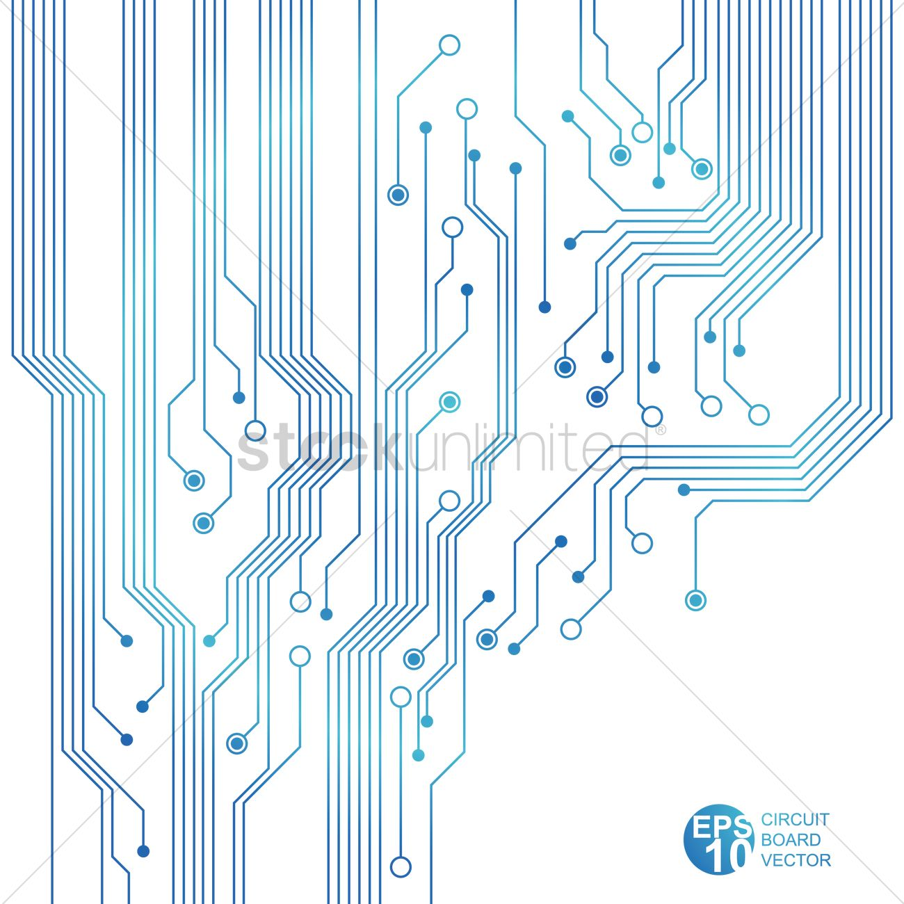 Blue circuit board Vector Image - 1527708 | StockUnlimited