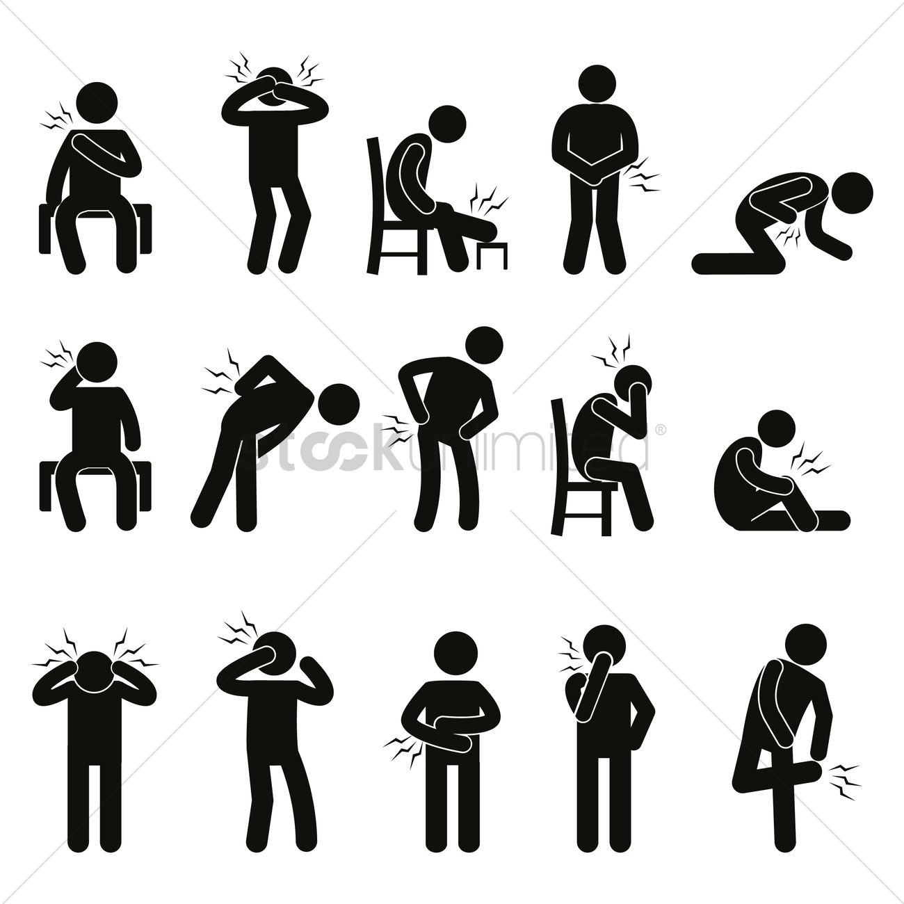 Body ache pain people Vector I...