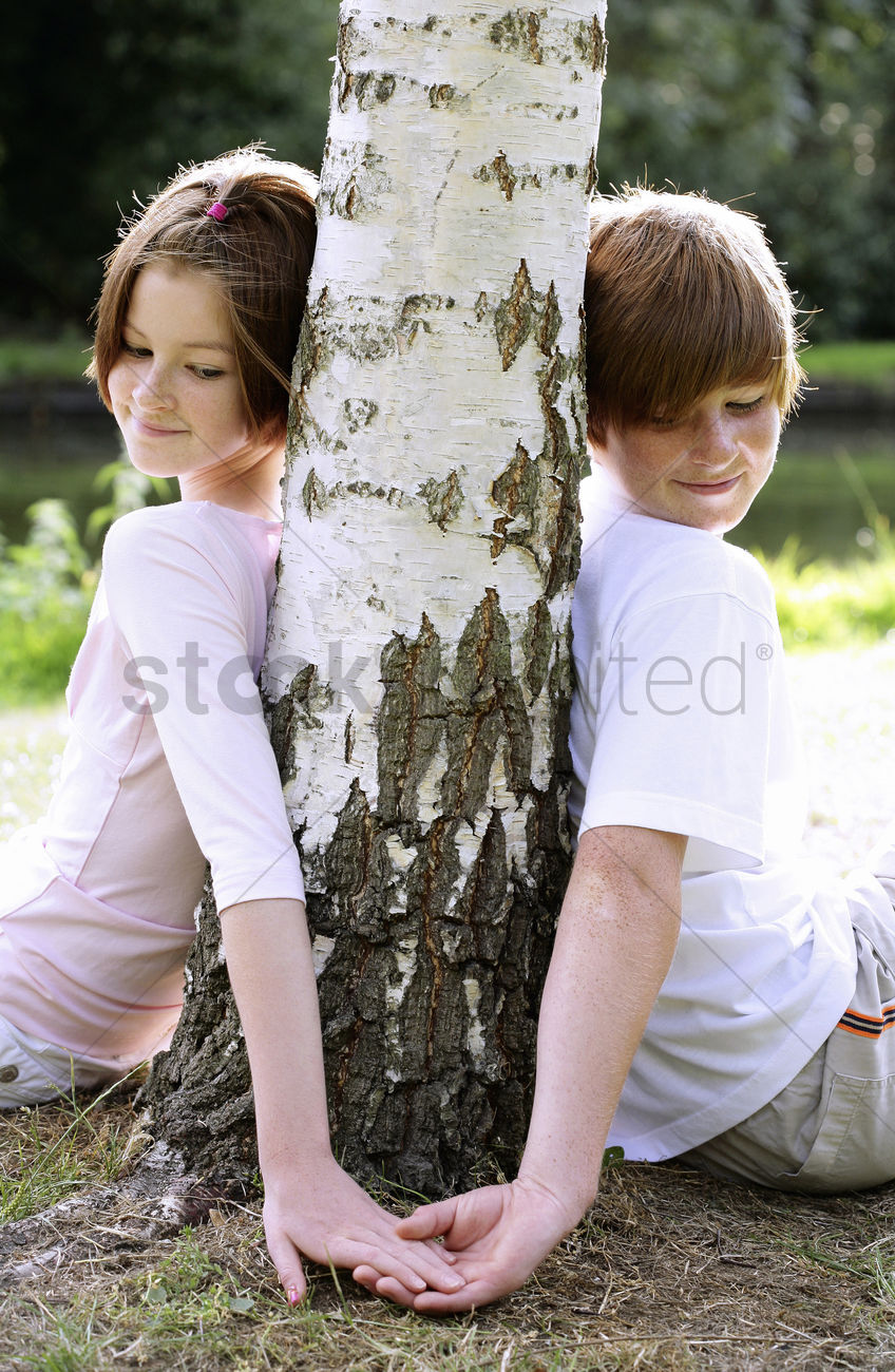boy touching girl's hand stock photo - 1677288 | stockunlimited