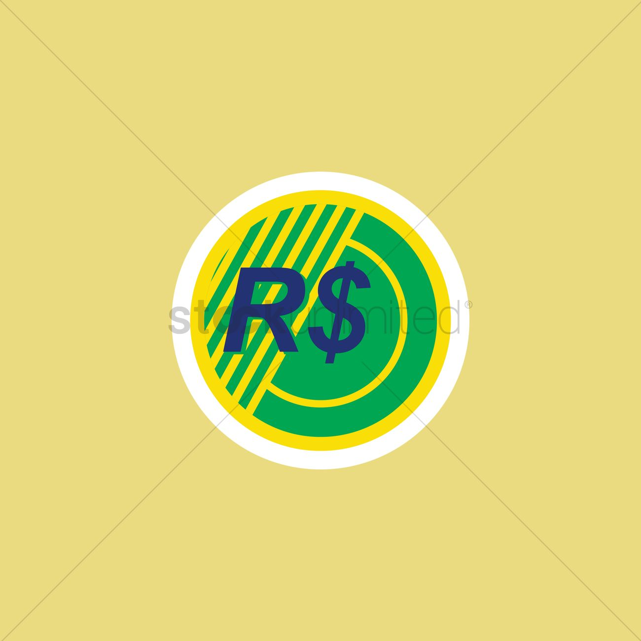 Brazilian Real Symbol Vector Image 1571628 Stockunlimited