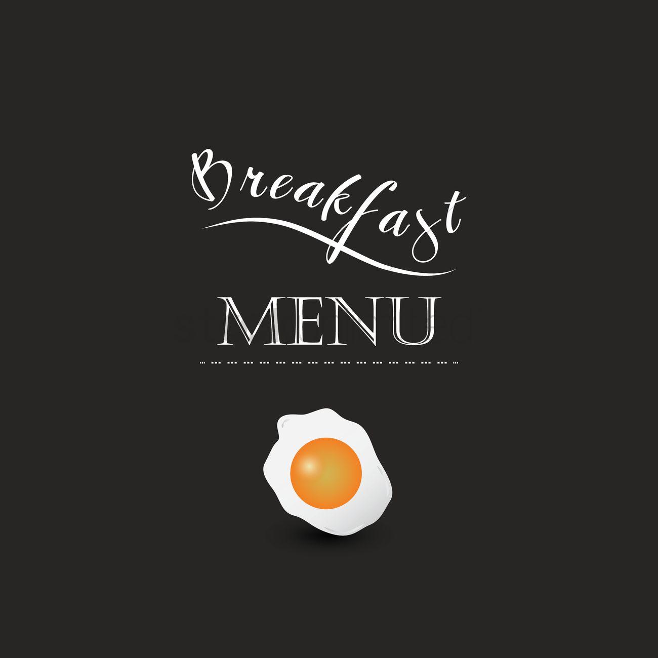 breakfast menu design vector image - 1710736 | stockunlimited