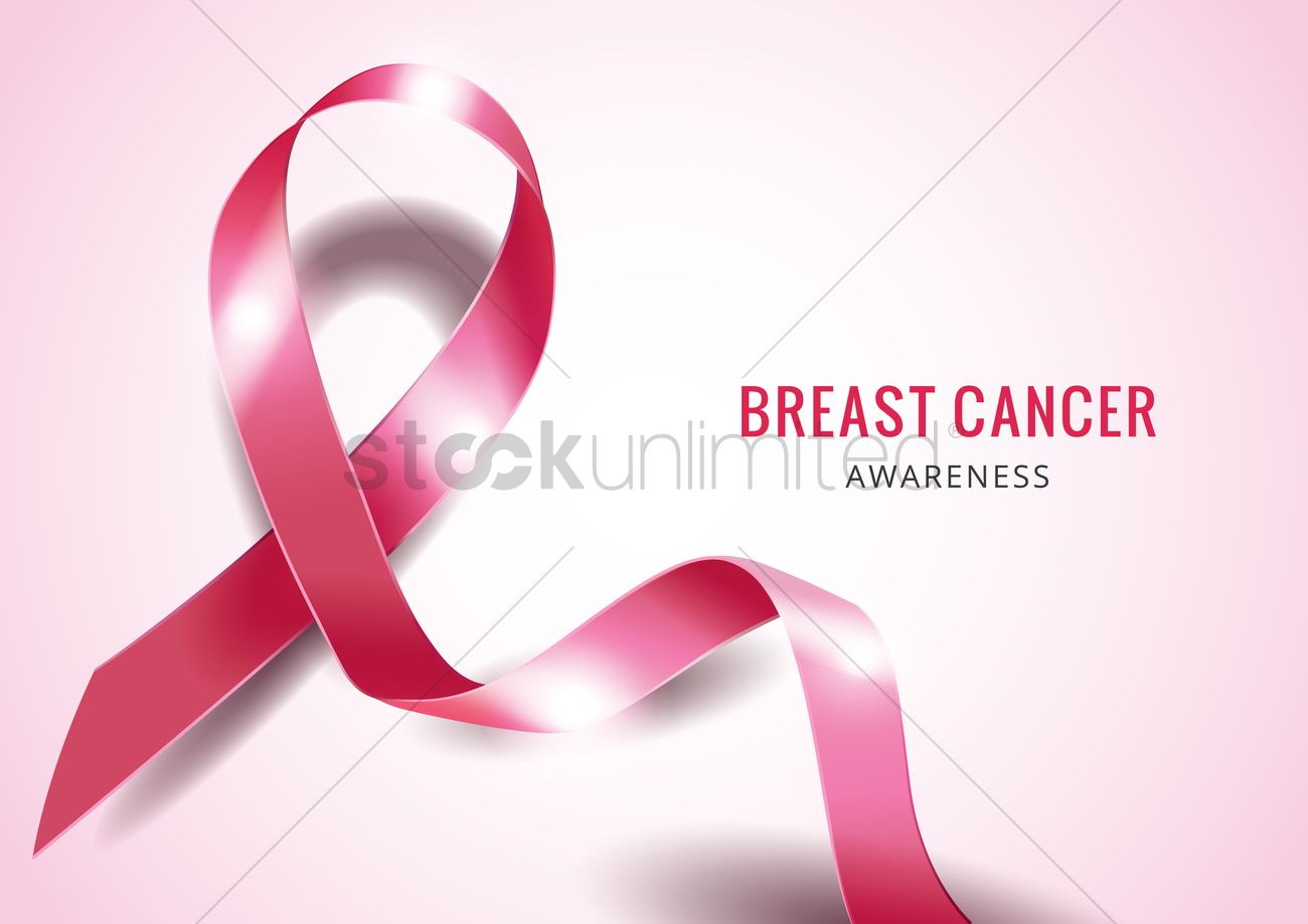 breast cancer awareness ribbon design vector image 1964164