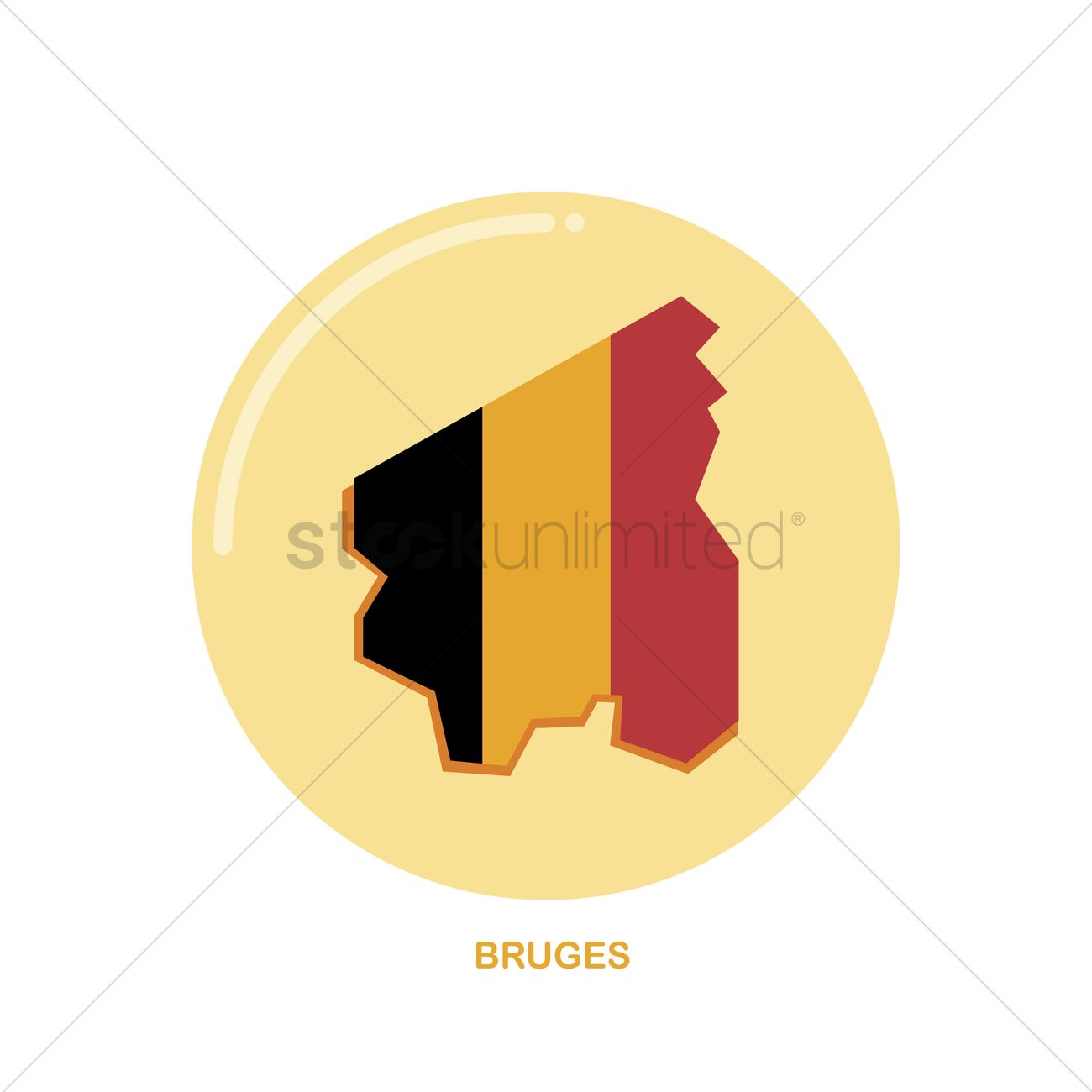 Bruges map icon Vector Image - 1581400 | StockUnlimited