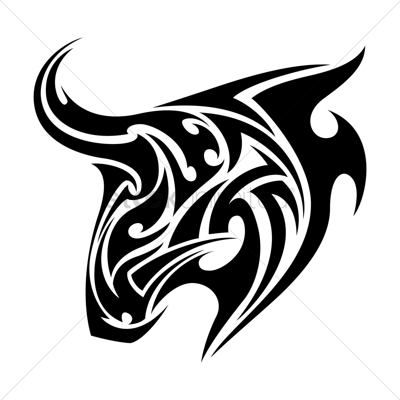 Bull Tattoo Vector Image 1441392 Stockunlimited