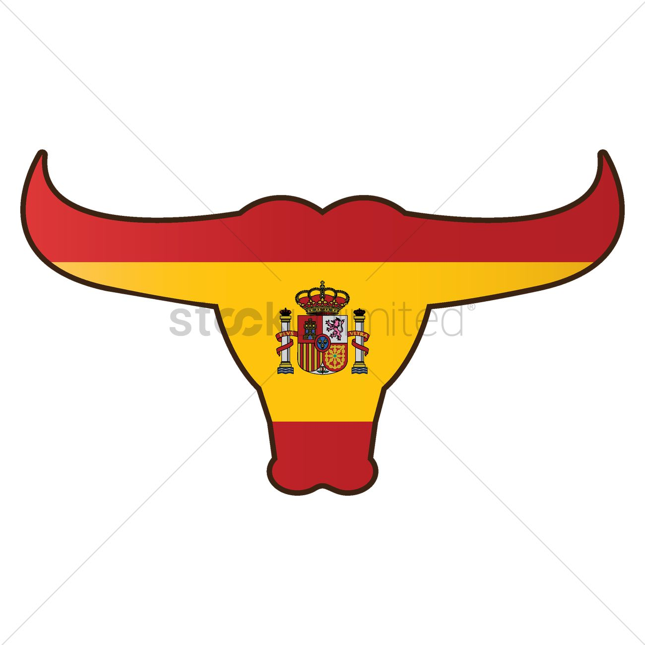 bull with spain flag vector image 1565308 stockunlimited bell clipart bully clipart