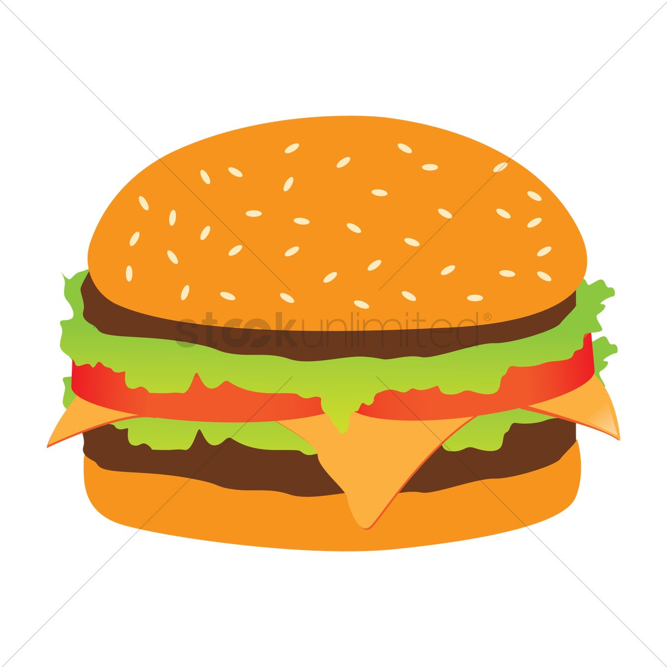 burger vector image 1709260 stockunlimited