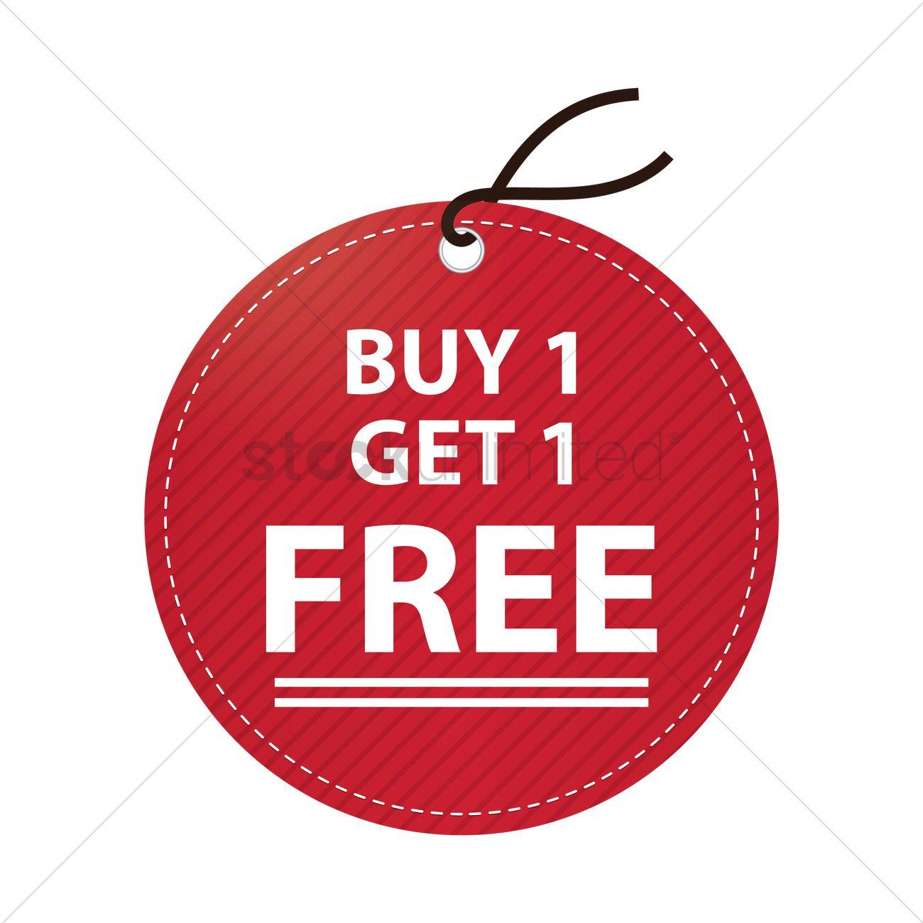 Buy One Get One: Free Buy One Get One Free Tag Vector Image