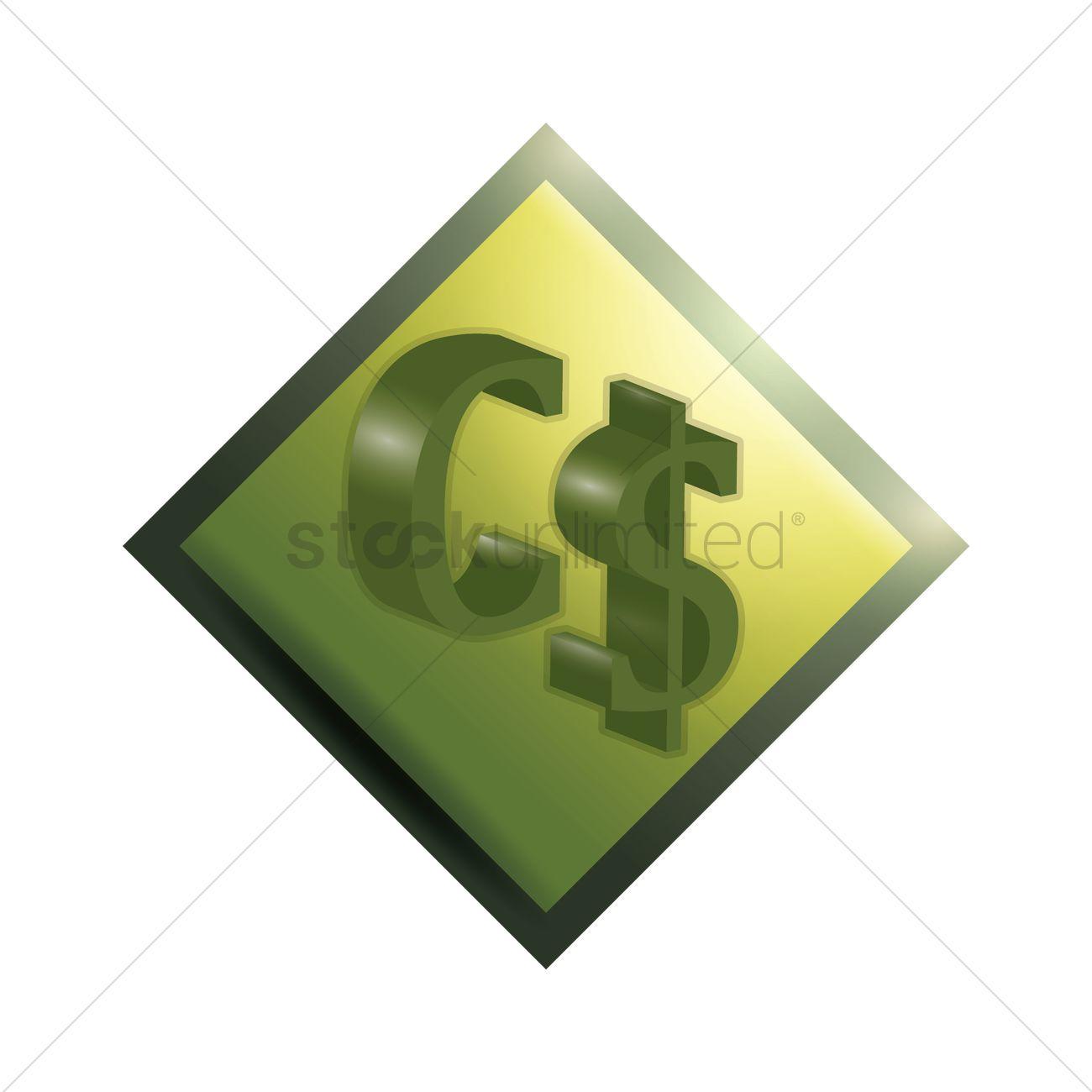 Canada Dollar Symbol Vector Image 1632016 Stockunlimited