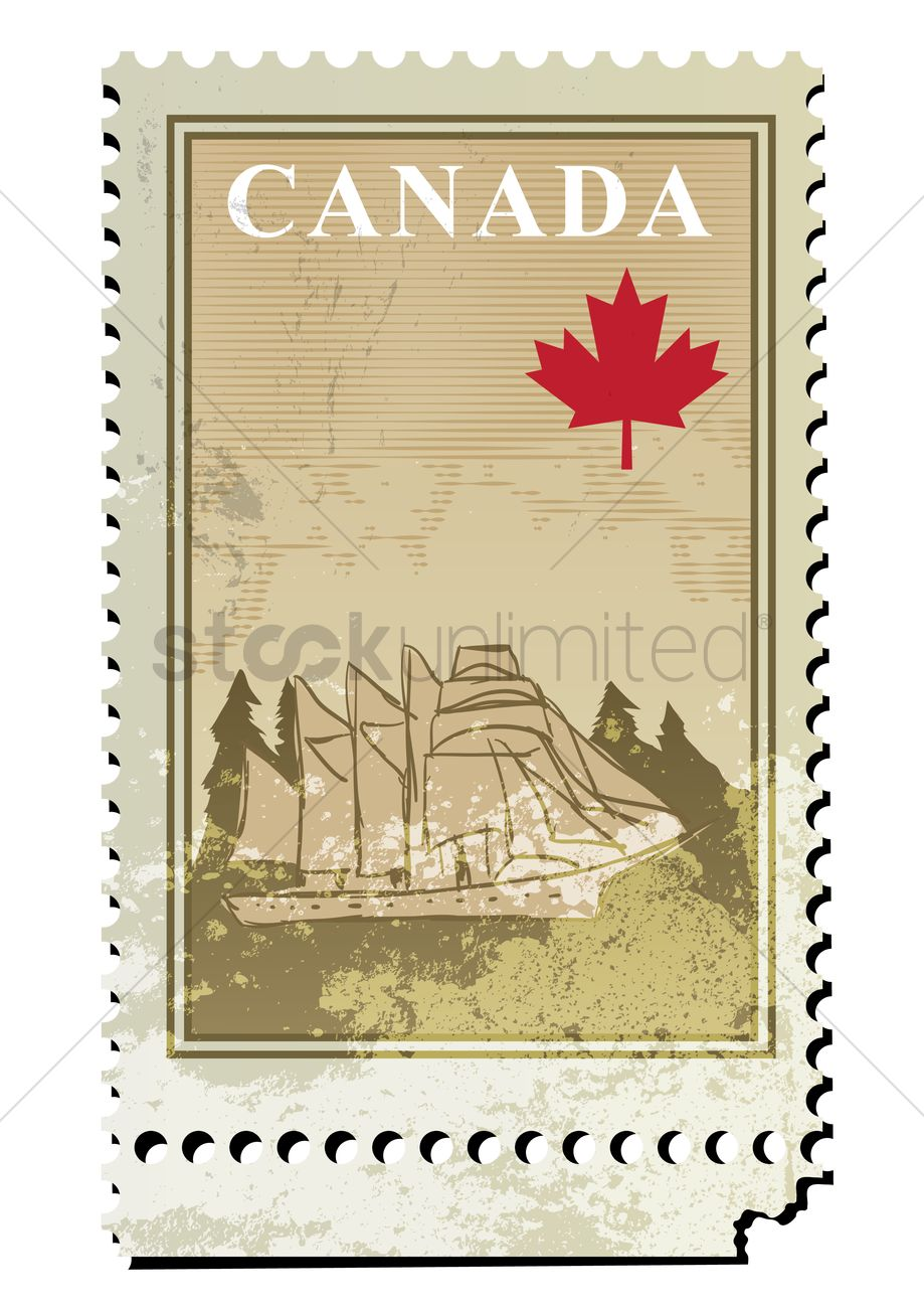 Canada Postage Stamp Design Vector Image 1963044 Stockunlimited