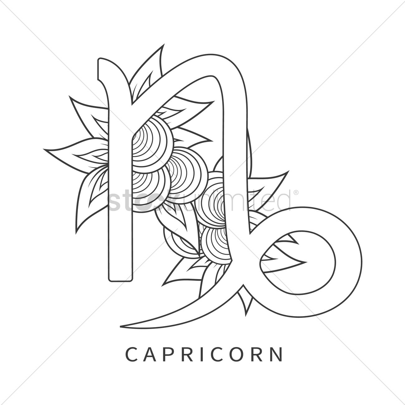Capricorn Symbol Vector Image 1964284 Stockunlimited