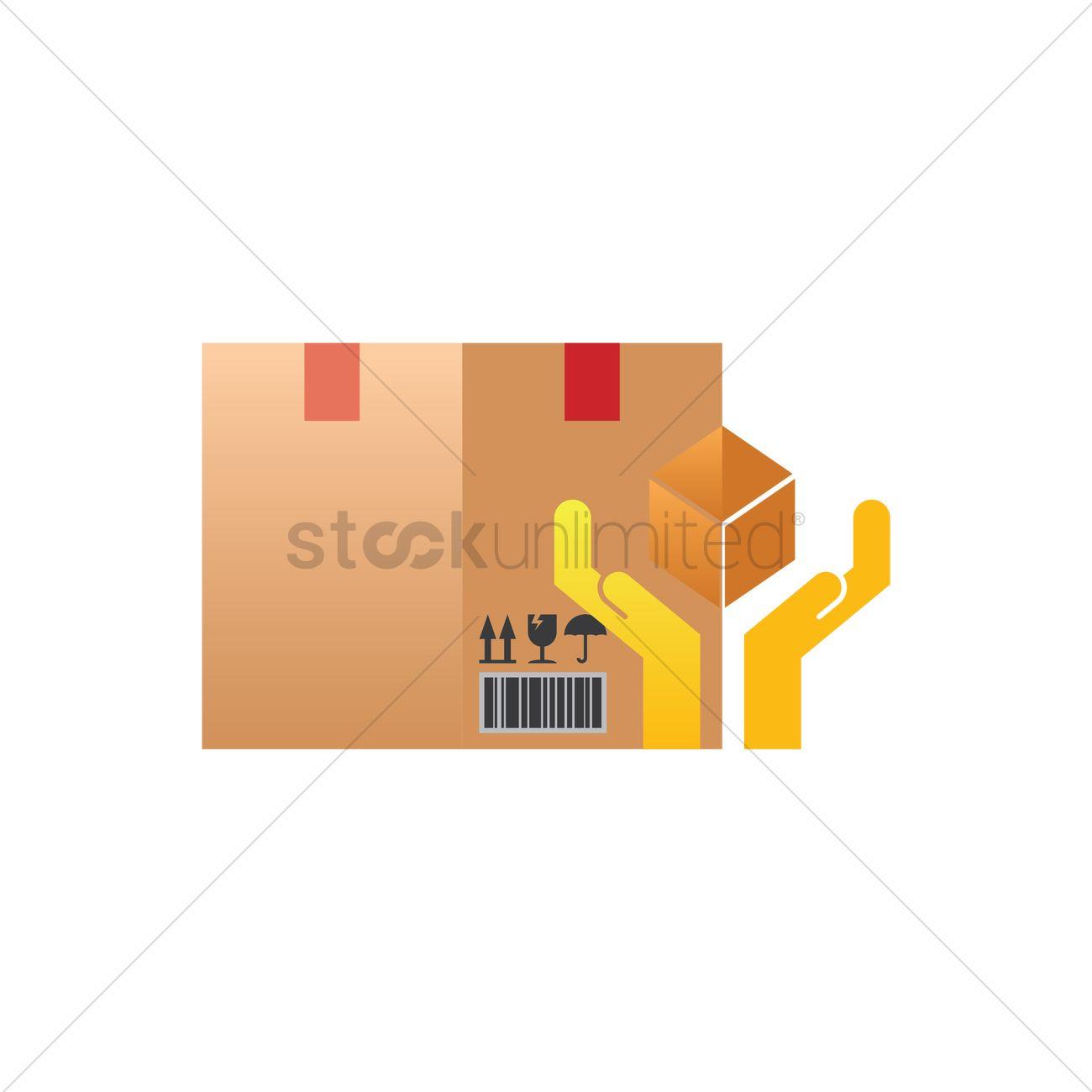 Free cardboard box with handle care symbol vector image 1346196 free cardboard box with handle care symbol vector graphic buycottarizona