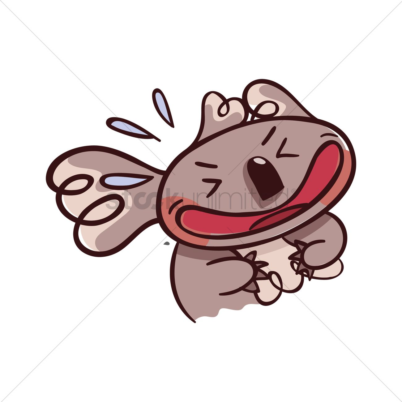 cartoon koala bear laughing hard vector image 1957124