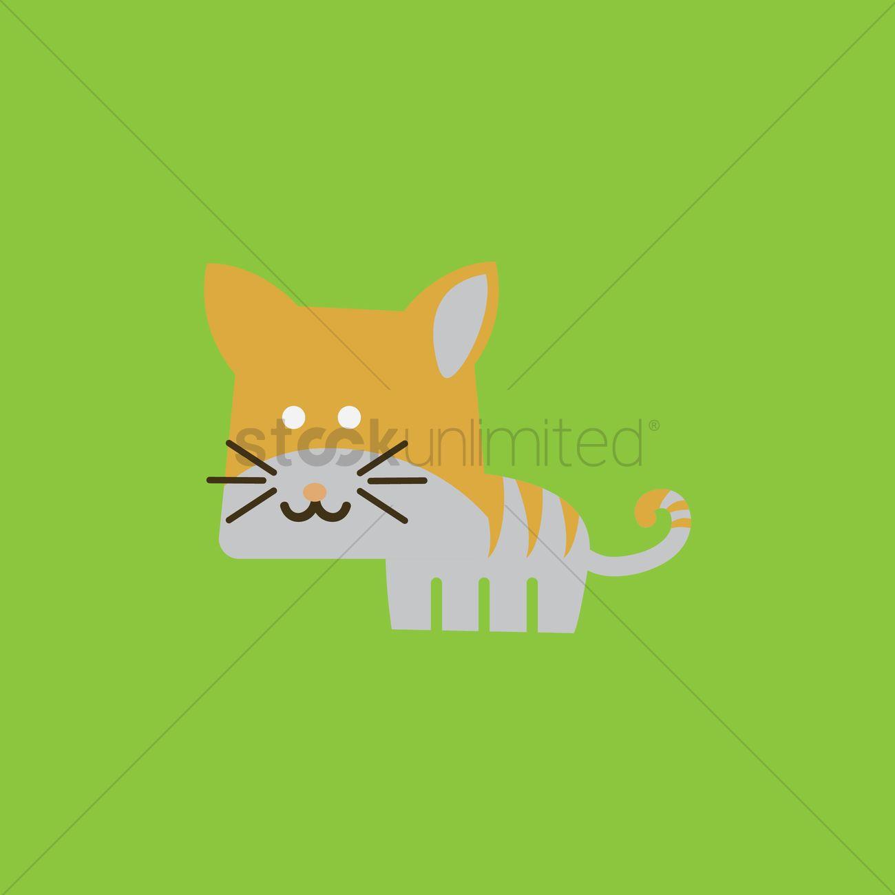 a98626be71b8 Cat cartoon Vector Image - 1420388