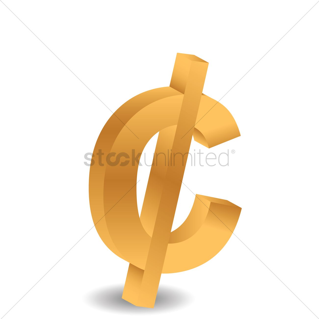 Cent Symbol Vector Image 1636708 Stockunlimited
