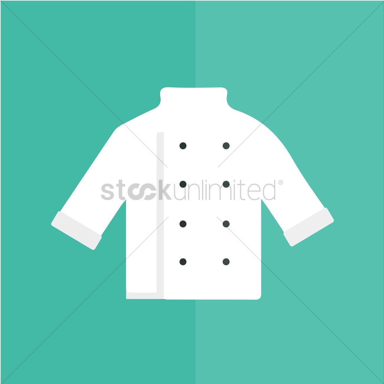 Chef Coat Vector Graphic