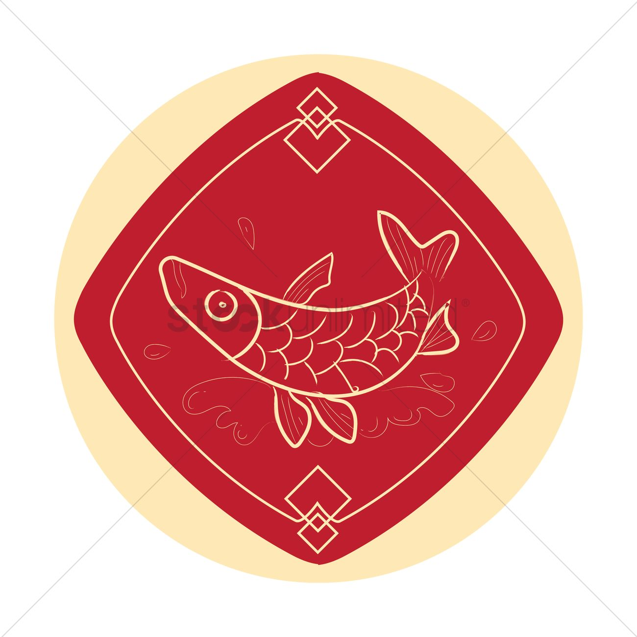 Chinese fish symbol vector image 1378704 stockunlimited chinese fish symbol vector graphic buycottarizona Gallery