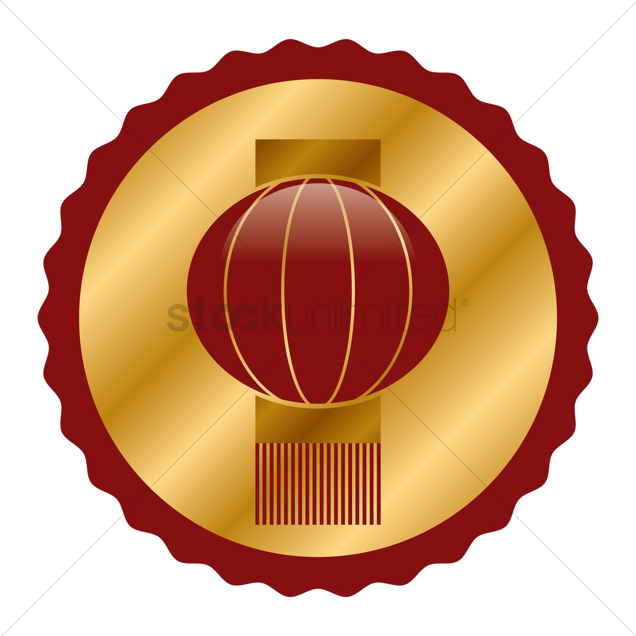 chinese new year lantern vector graphic