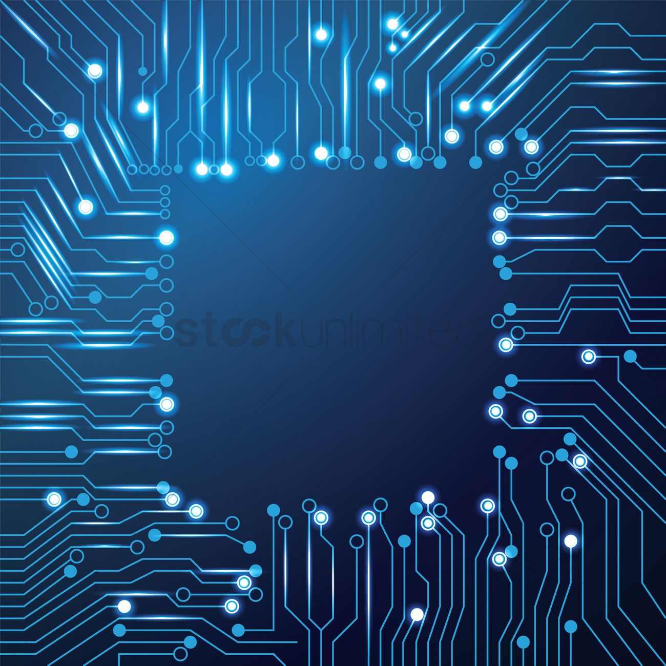 Chip Design On Circuit Board Wallpaper Vector Image