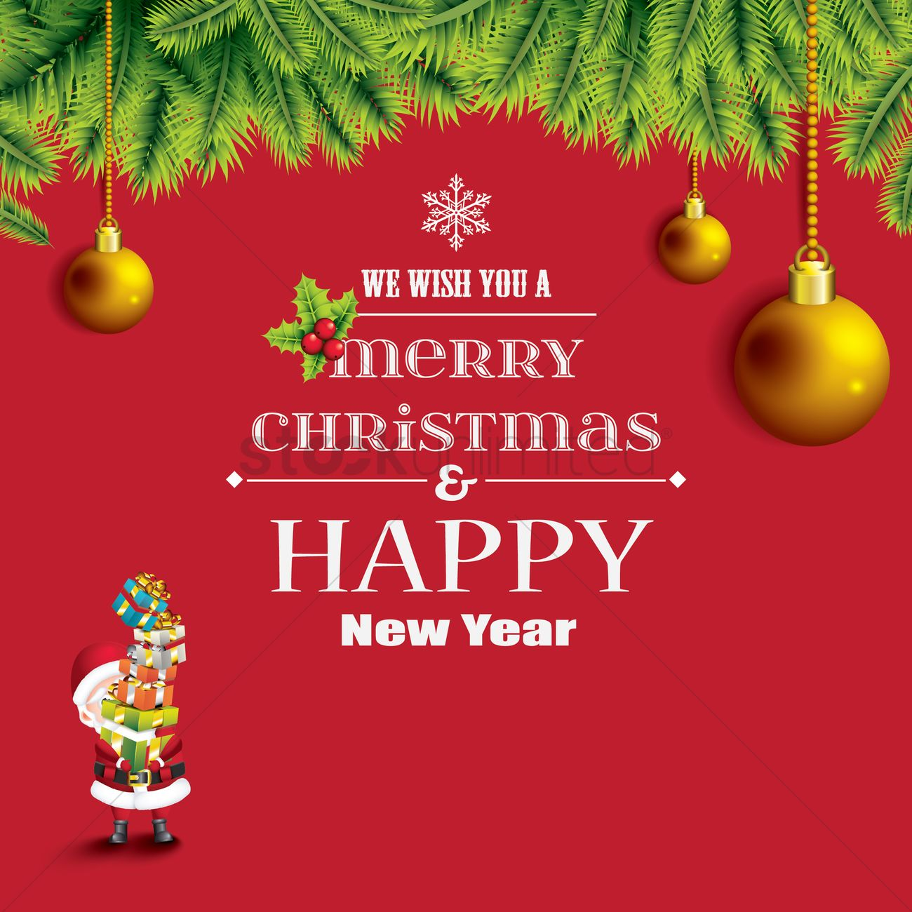 Christmas and new year greetings vector image 1626344 stockunlimited christmas and new year greetings vector graphic kristyandbryce Images
