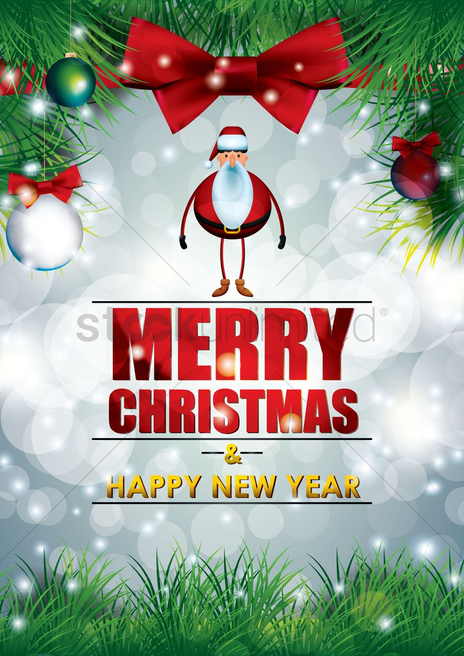 Christmas And New Year Greetings Vector Image 1713132 Stockunlimited