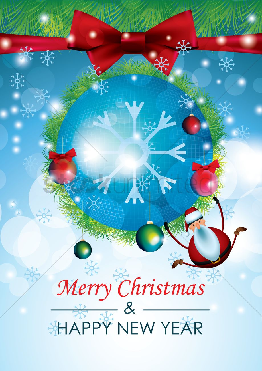 Christmas And New Year Greetings Vector Image 1713140 Stockunlimited