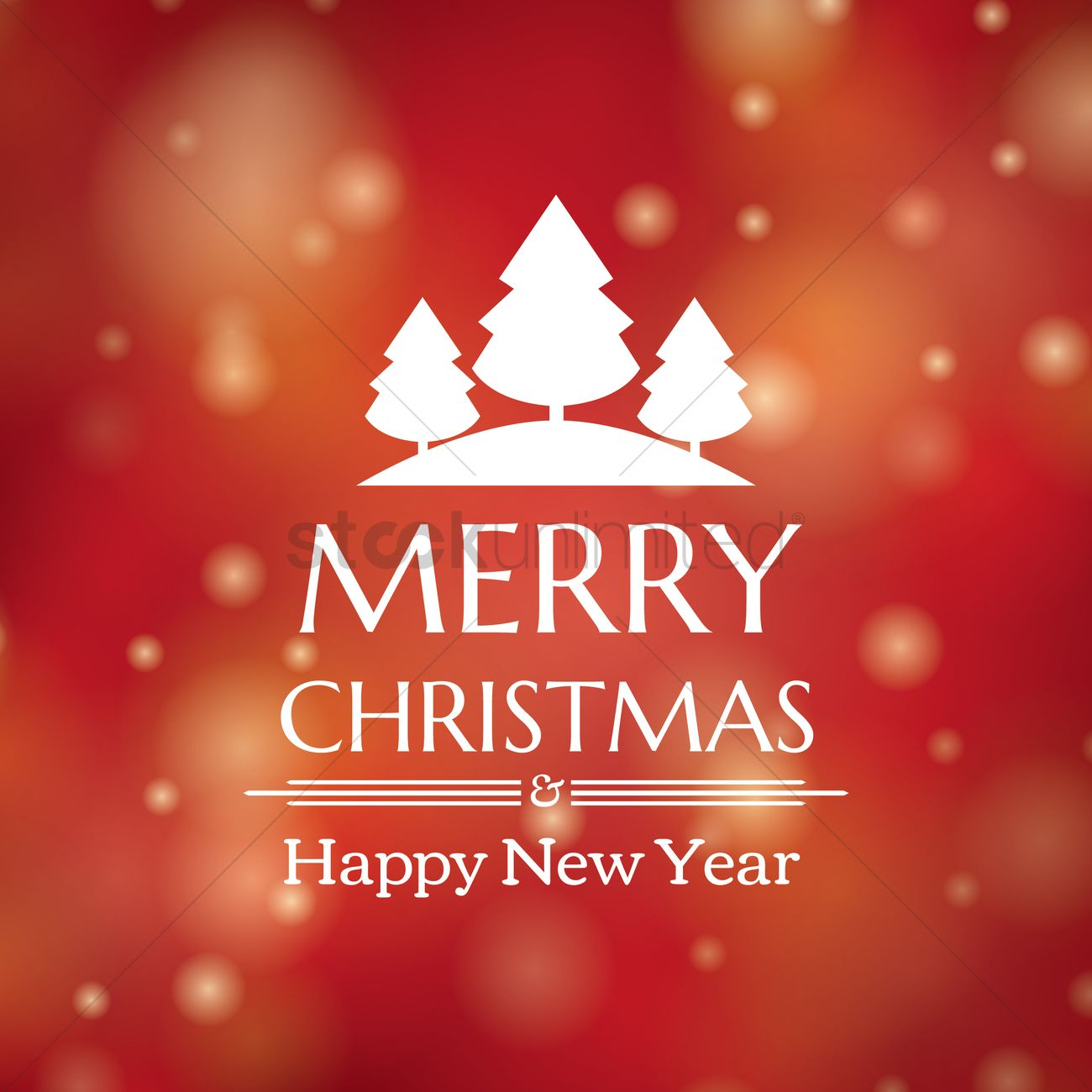 Christmas And New Year Greetings Vector Image 1812116 Stockunlimited