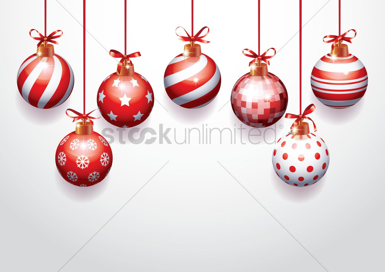 Christmas Ornaments Vector Image 2111436 Stockunlimited