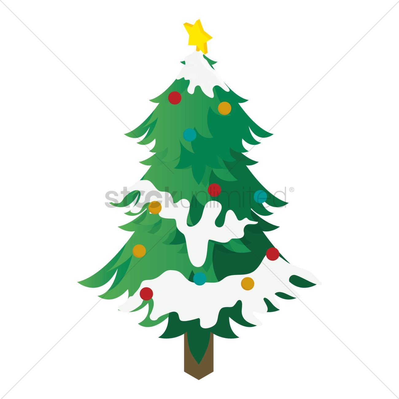 Christmas Tree Vector Image 1569472 Stockunlimited