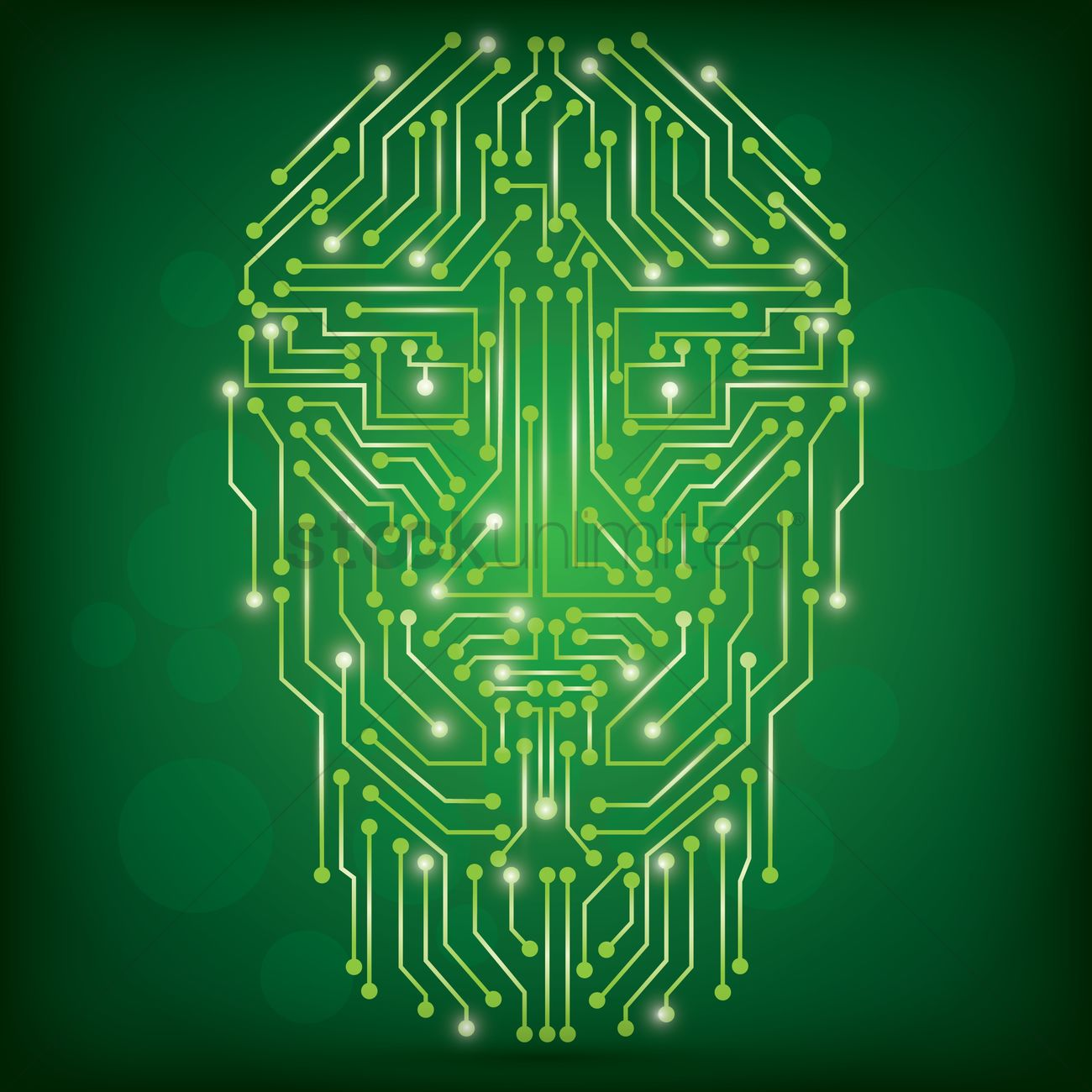 Circuit Board Human Face Design Vector Image 1948280 Stockunlimited Circuitboard Graphic