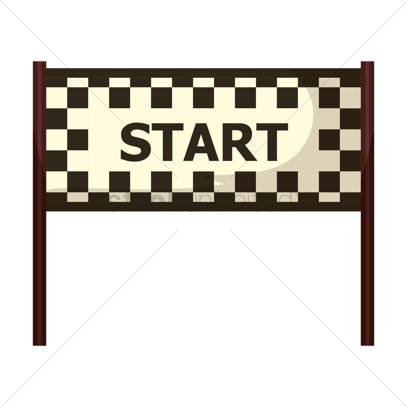 Starting Line Race Clipart