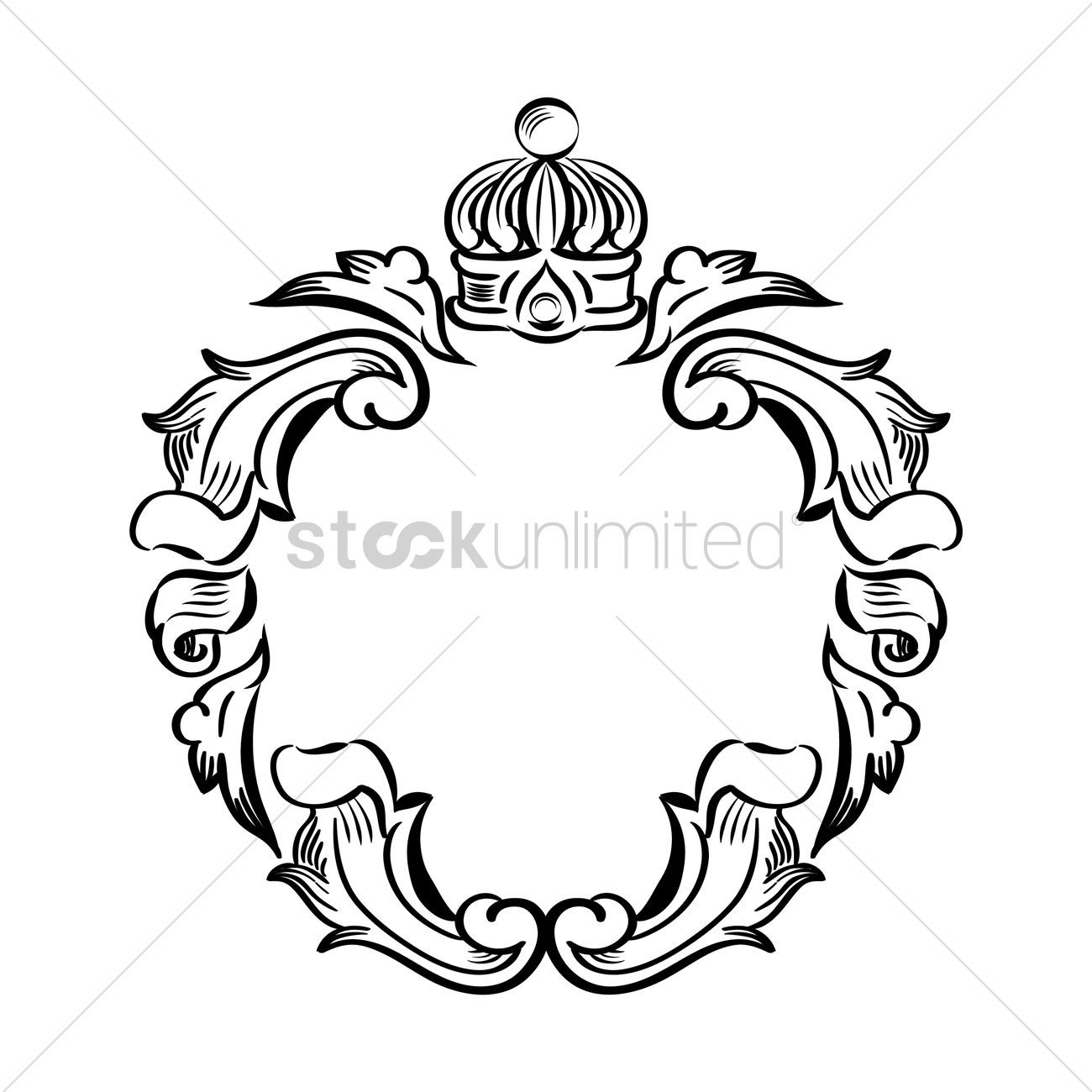 Classic decorative frame Vector Image - 1606672   StockUnlimited