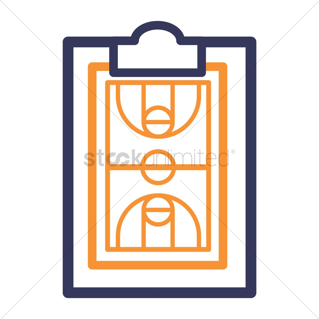 Outdoor basketball court clipart