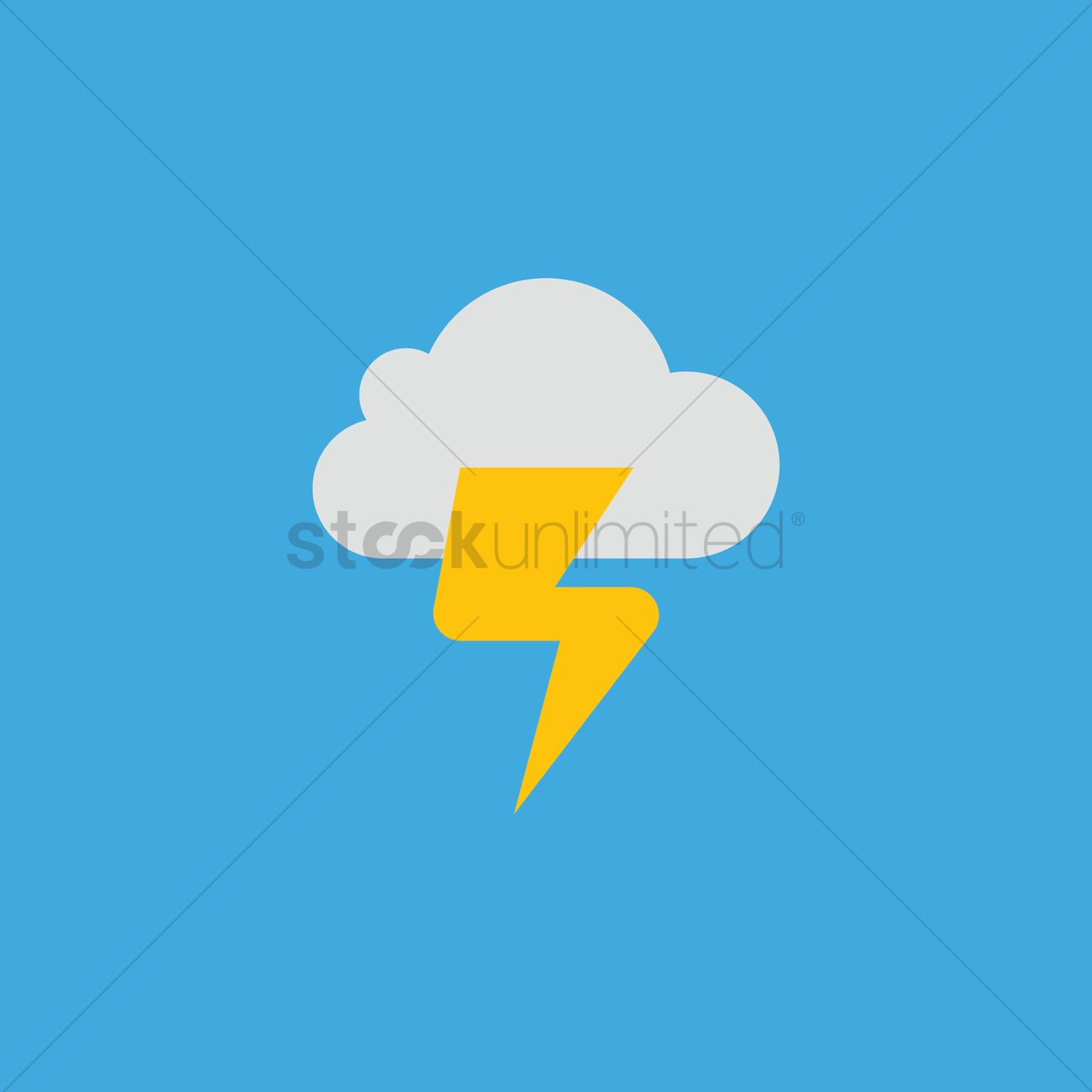 free cloud with thunder vector image 1323268 stockunlimited stockunlimited