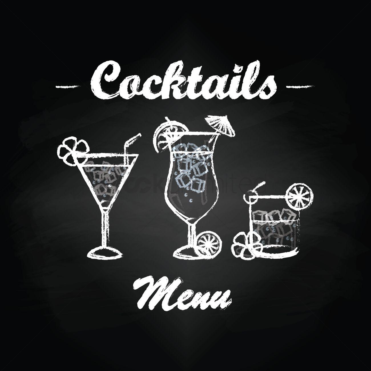 cocktails menu card design vector image 1798412 stockunlimited