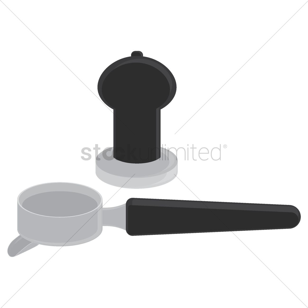 coffee portafilter and tamper vector image 1532480 stockunlimited coffee portafilter and tamper vector
