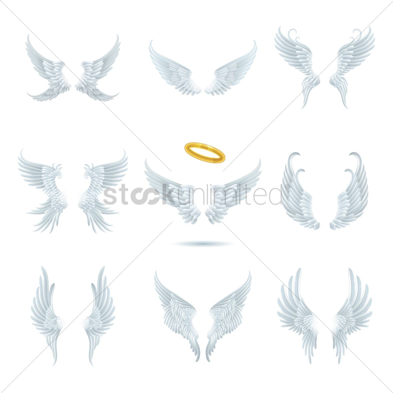 collection of angel wing designs vector image 1878468 stockunlimited