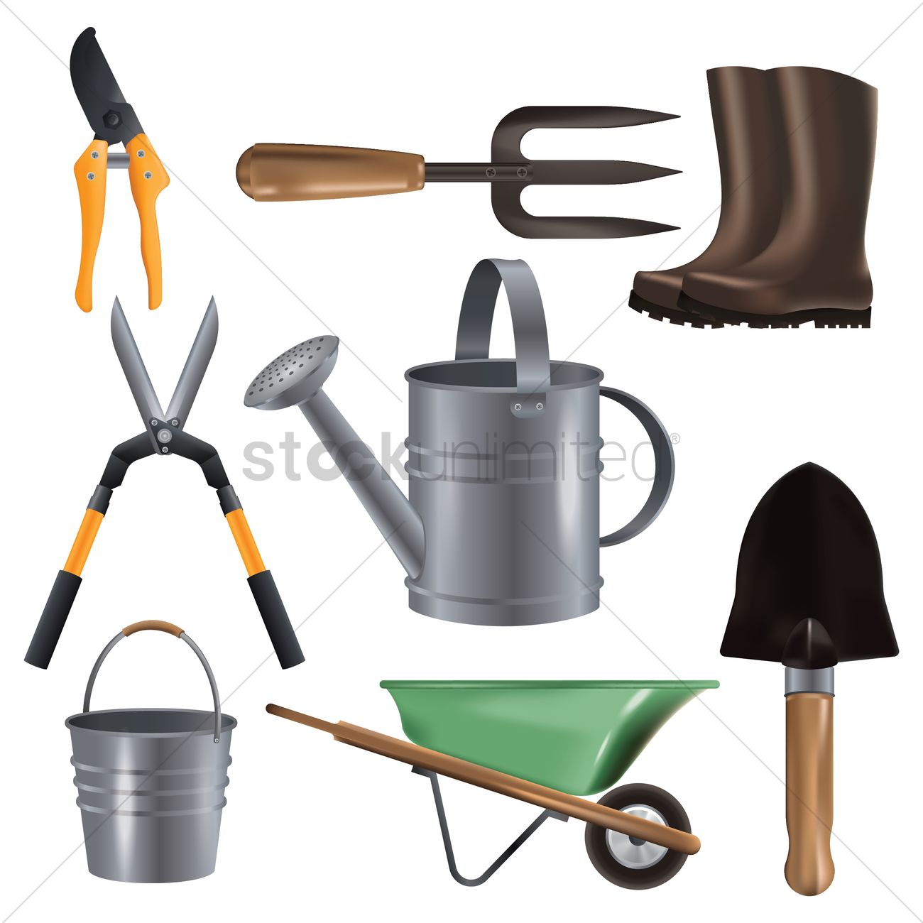 Collection of garden equipments Vector Image - 1895408 | StockUnlimited