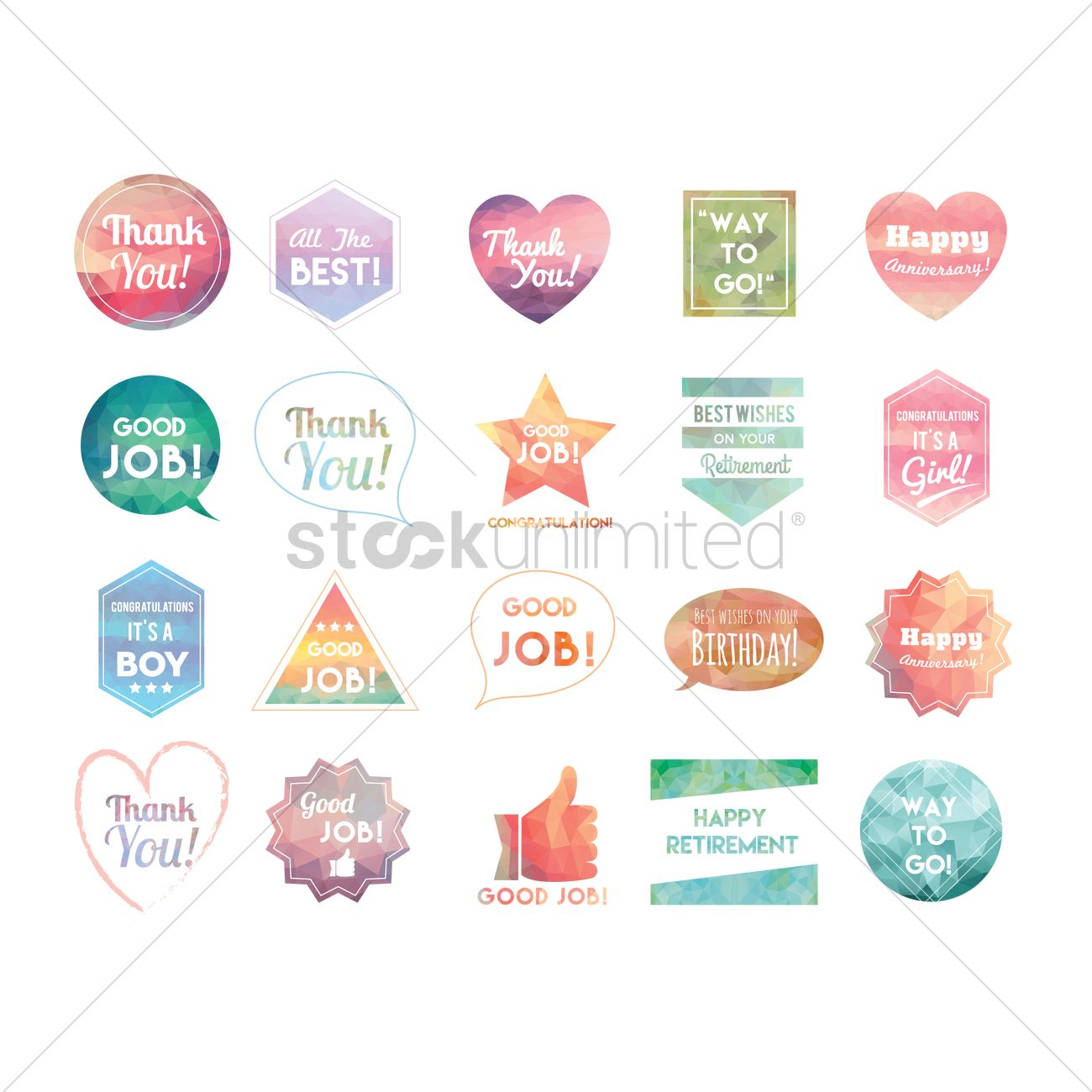Collection Of Greetings Vector Image 1617368 Stockunlimited