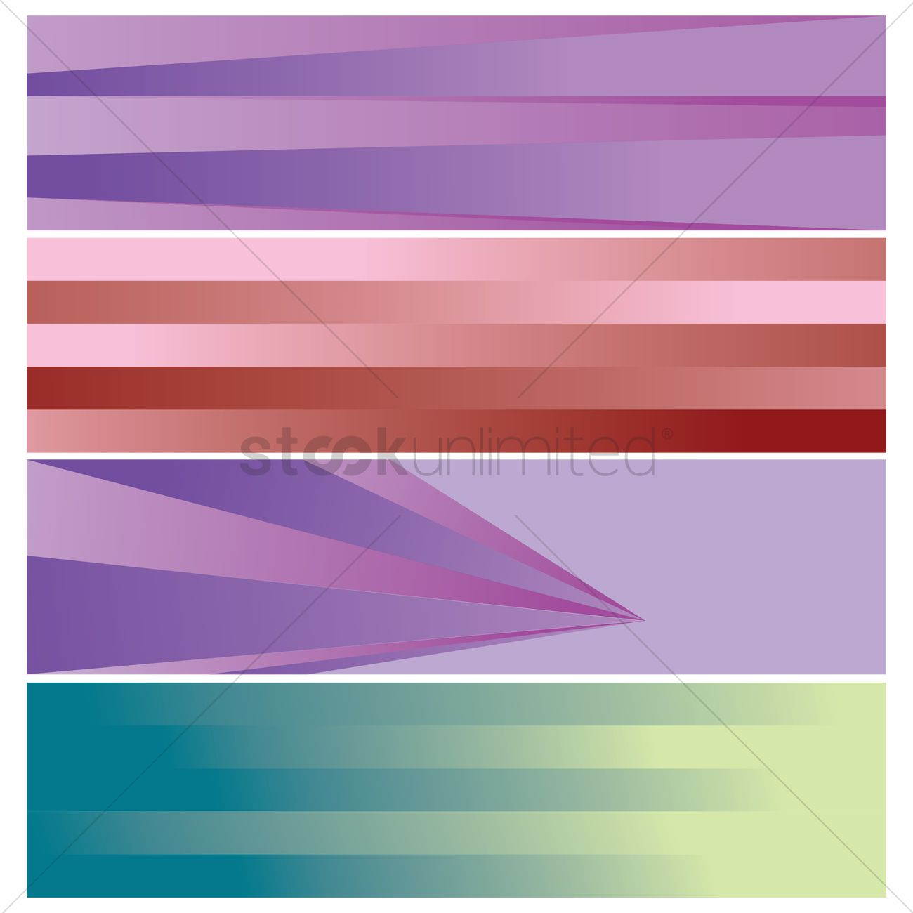 collection of modern web banner designs vector image 1956412