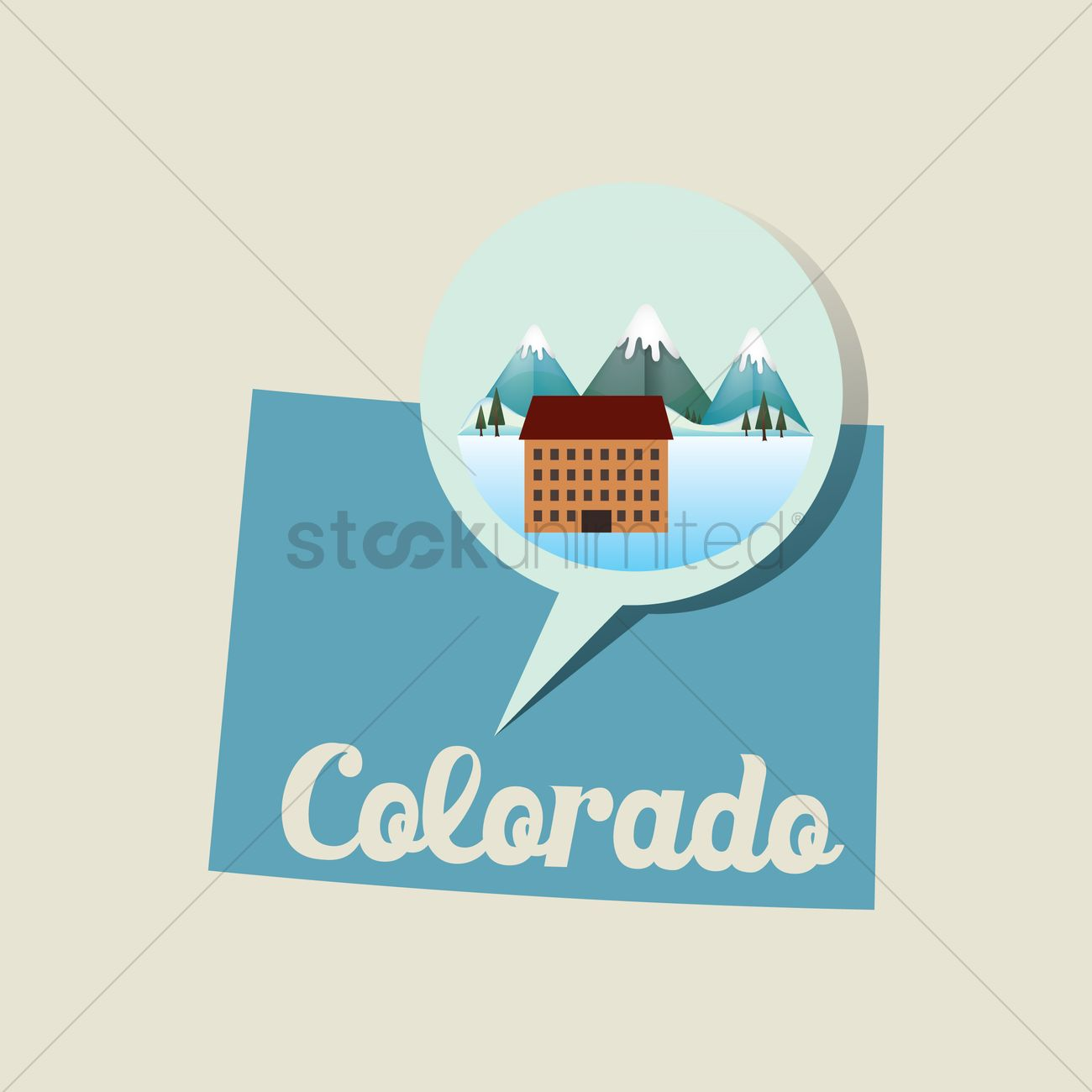 Colorado map with ski resort icon Vector Image - 1536720 ...
