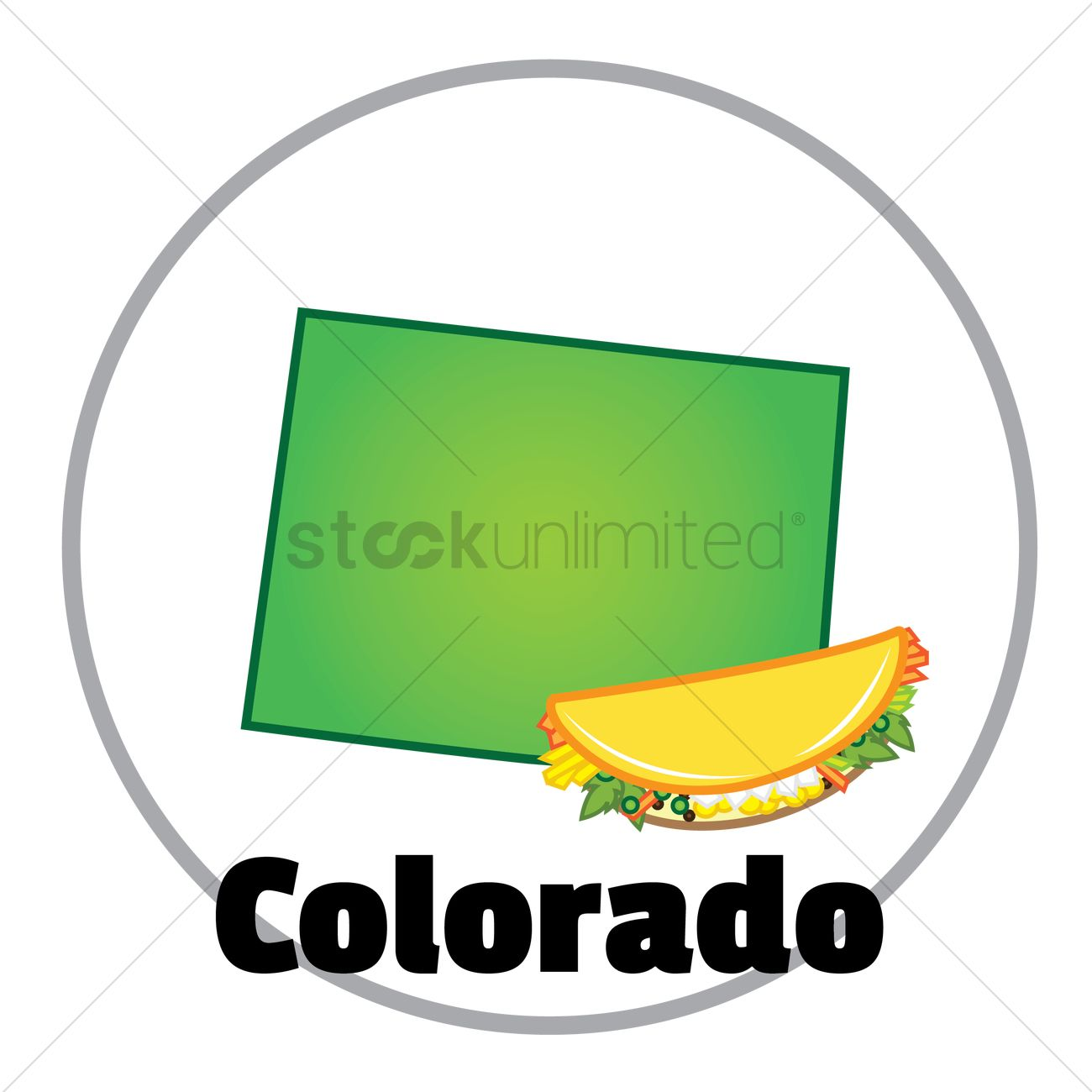 High Quality Colorado State Map Vector Graphic