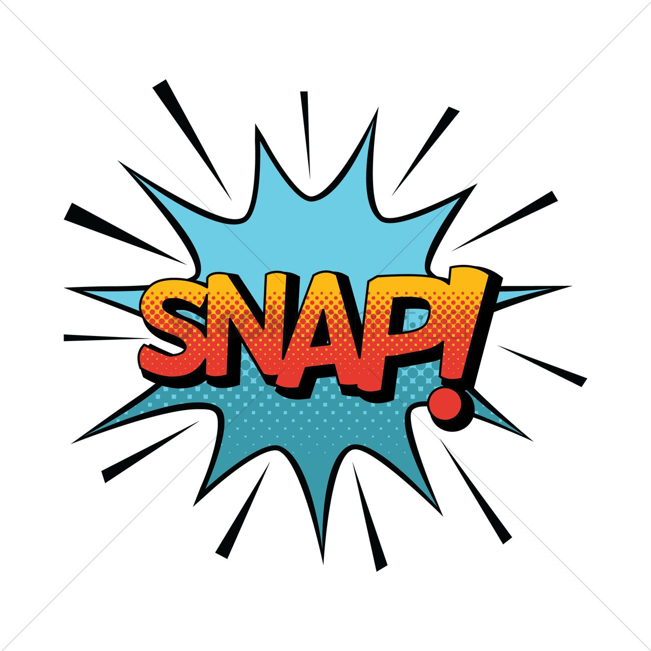 Comic bubble snap Vector Image - 1819696 | StockUnlimited